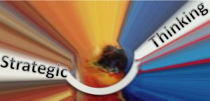 Strategic Thinking Image over Kalidescope over streaming