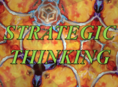 Strategic Thinking Image over Kalidescope
