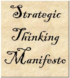 Strategic Thinking Manifesto Badge